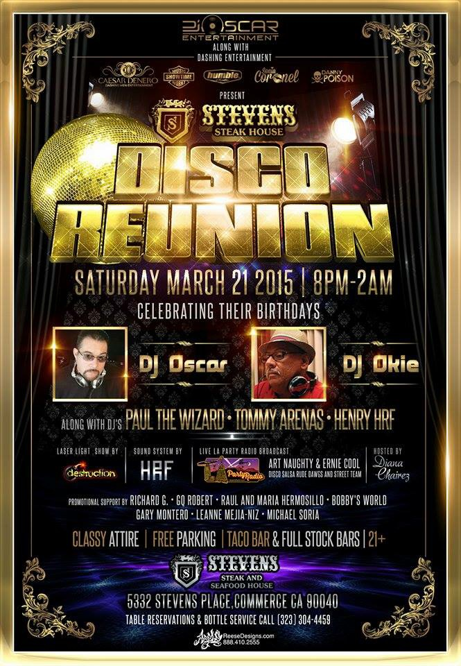 Disco Reunion march 21 2015